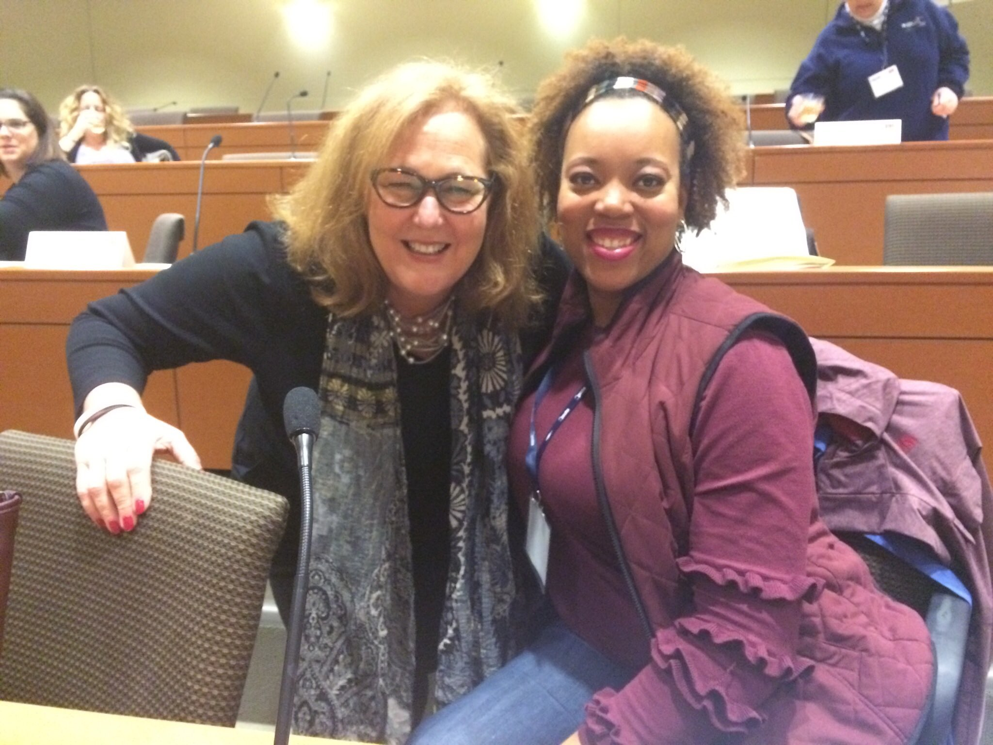.@KarenMageeNYSUT with Aisha Cook of New Rochelle #nysutwomen https://t.co/UB4cPXZOfg