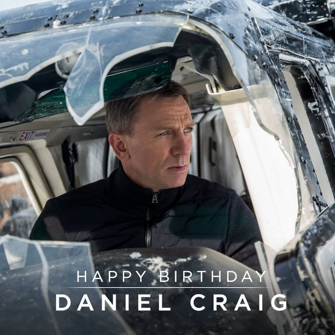Happy Birthday Bond, James Bond. Daniel Craig!