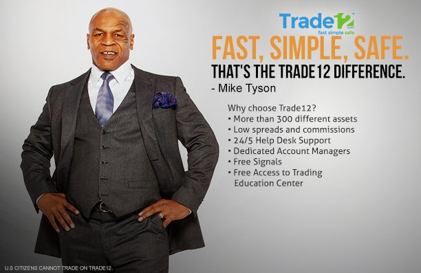 With Trade12, you can do better​. Sign up with @tradeonetwo today. #MikeTysonforTrade12 #Trade12 Trade12 Website: https://t.co/CrXMzSZCIm https://t.co/9t1xj6Ncqg