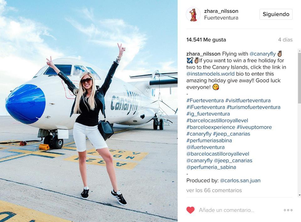 Encantados d promocionar #Canarias con #InstaModelsWorld y #ZharaNilsson Tú también puedes ganar unas vacacioneshttp://bit.ly/2lIkzAw pic.twitter.com/Jn0XtQpXVa