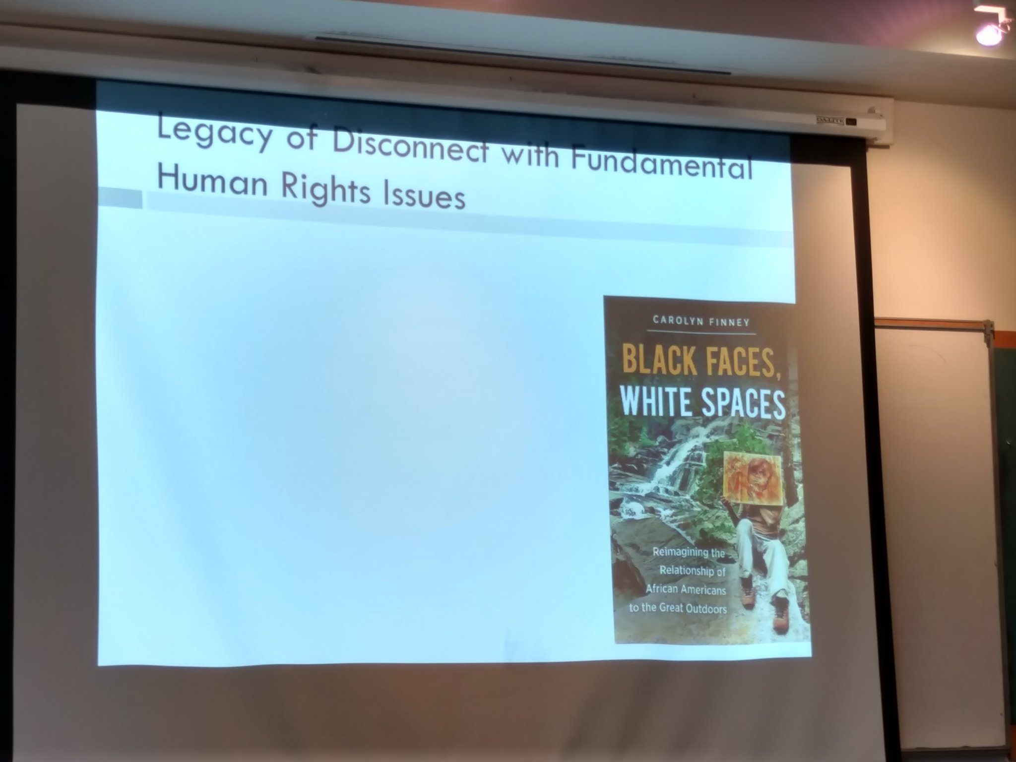 Carolyn Finney's book Black Faces, White Spaces. @cynth_malone recommends book! SACNISTAs, go get it! #SCSCB #ucsc @JustineASmith @ucsc https://t.co/syBQ9L79QI