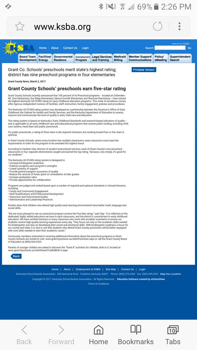 Grant County Board Of Education Popular Education - Top us counties for education