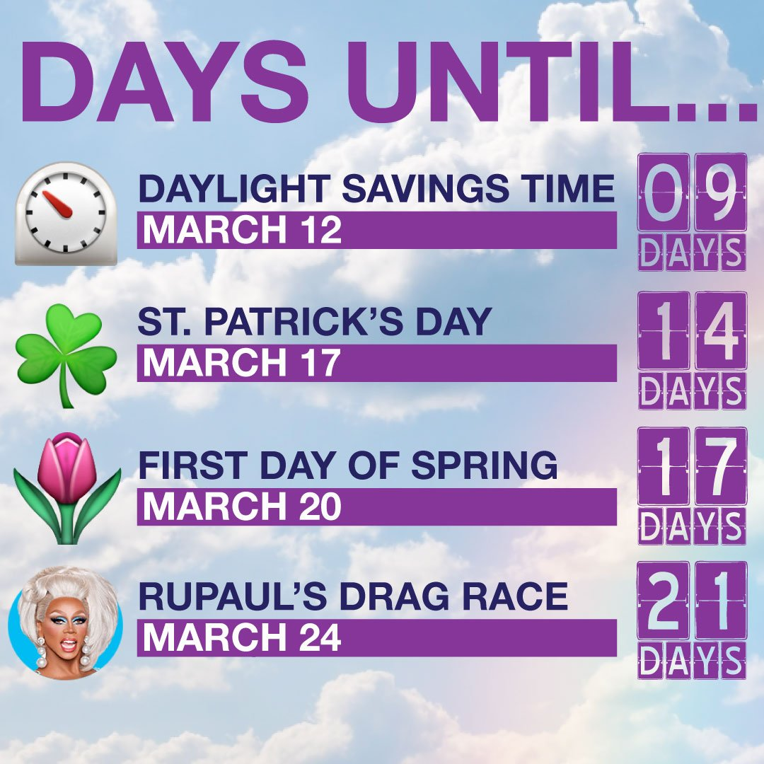 The countdown is on, kitty girls! RuPaul's Drag Race returns March 24th to OUTtv and OUTtvGo!