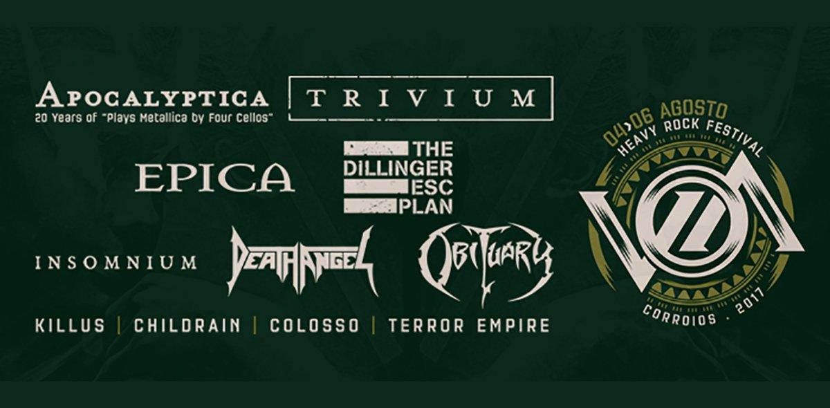 #VOA 2017, #Apocalyptica e #Epica encabeçam novas confirmações +info em http://wp.me/p5MaUC-5EL #Childrain #Colosso #TheDilingerEscapePlan