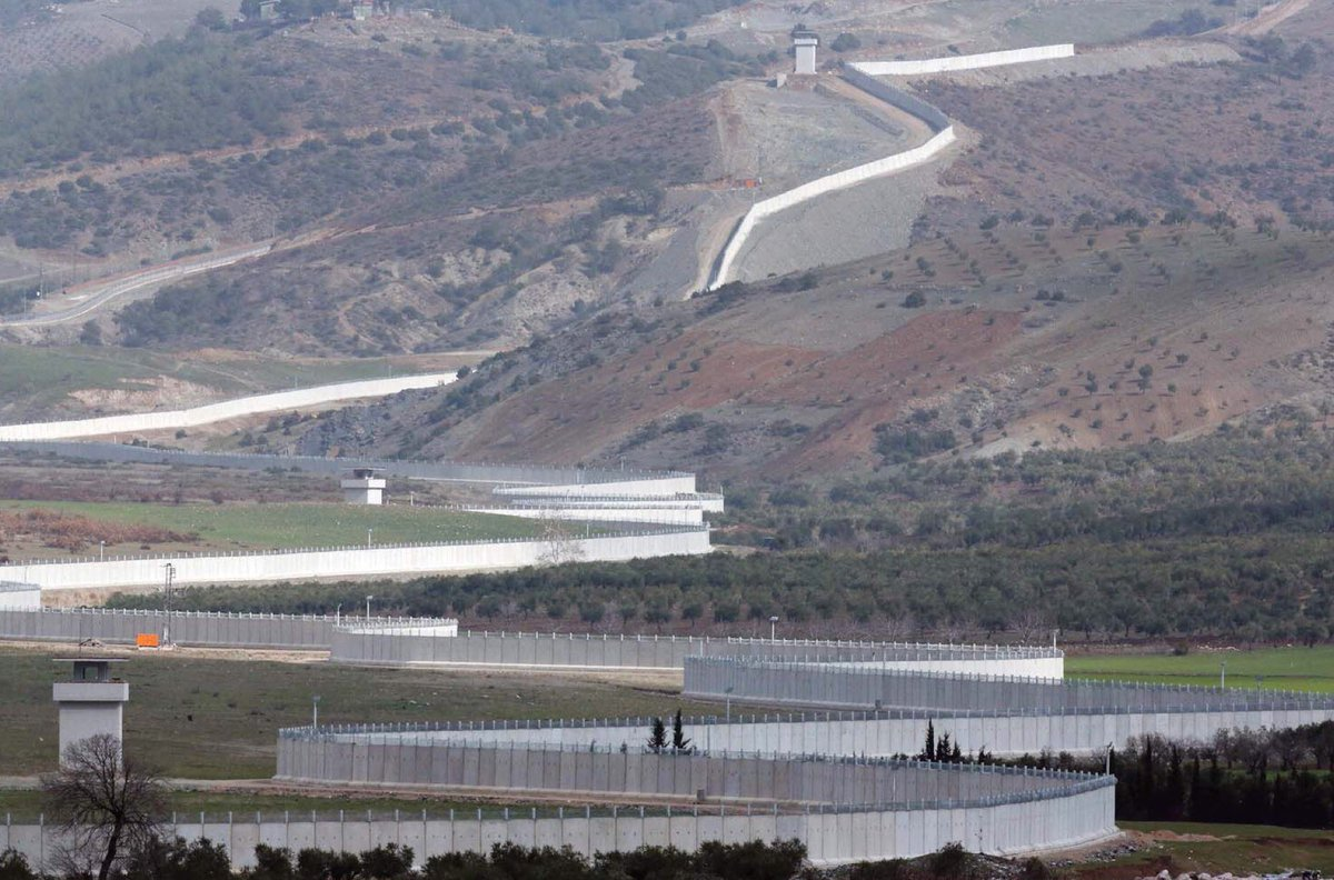 The Great Wall of Turkey (along Syrian border) https://t.co/4duxpjbwIc