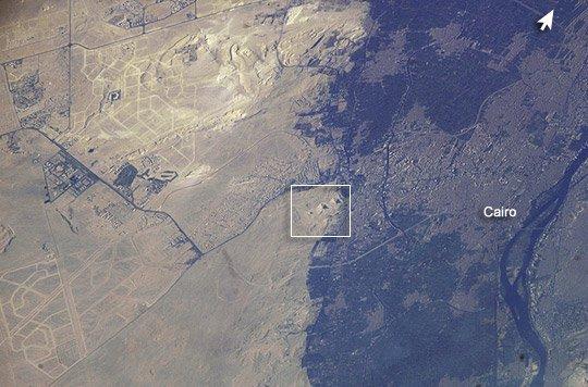 Астронавт ESA обнародовал снимок пирамид Египта изкосмоса