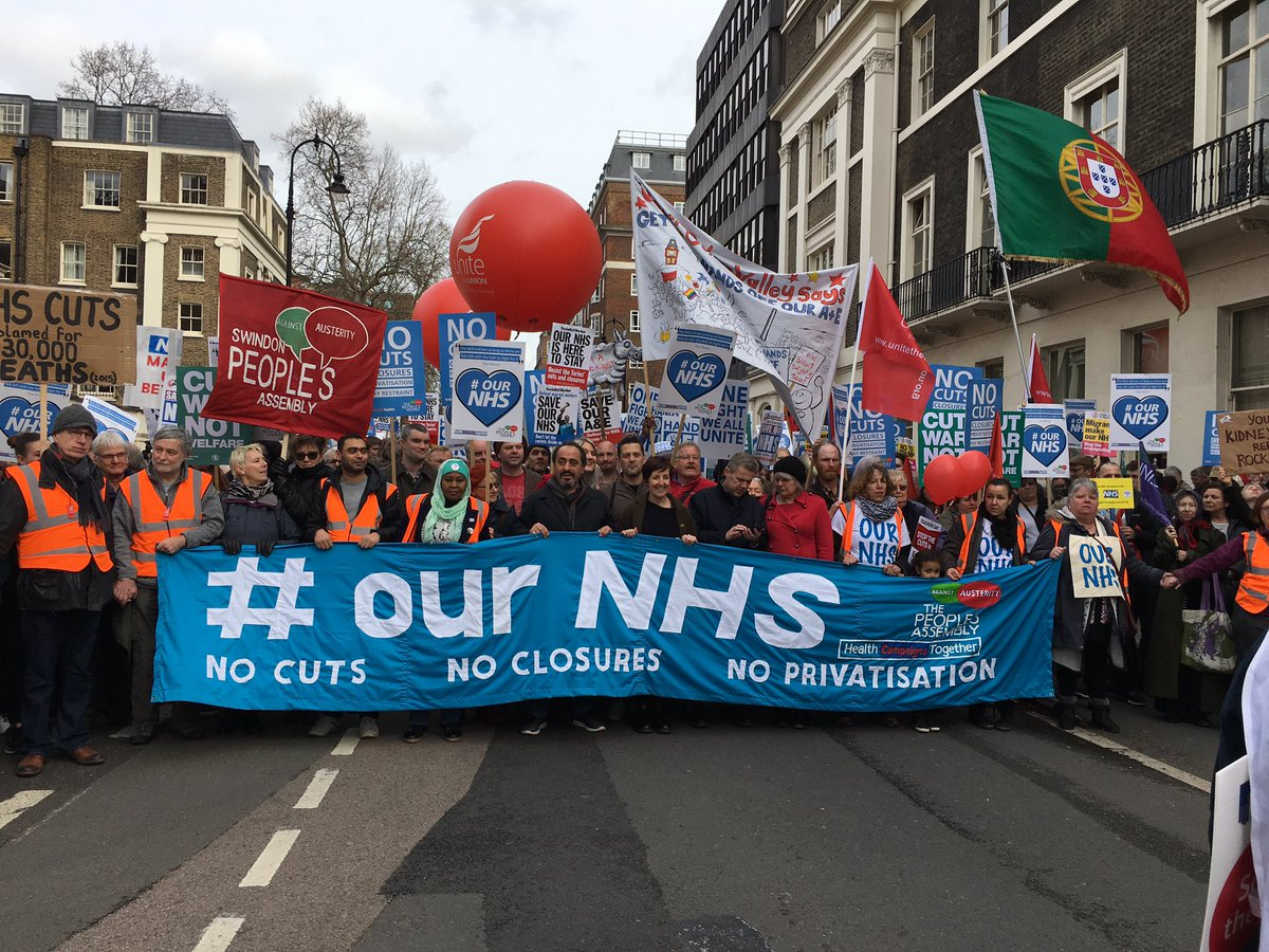 OUR NHS Campaing to Protest Today Tavistock Square London