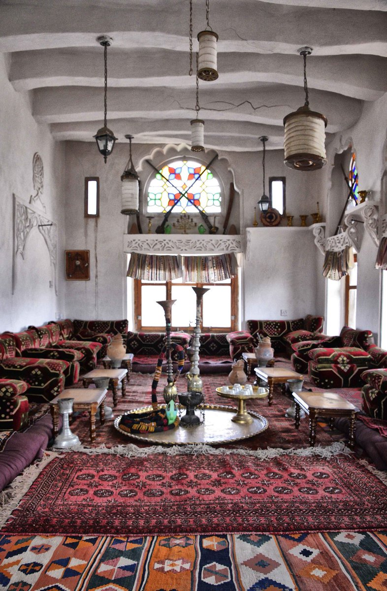 In love with these Yemeni living rooms.