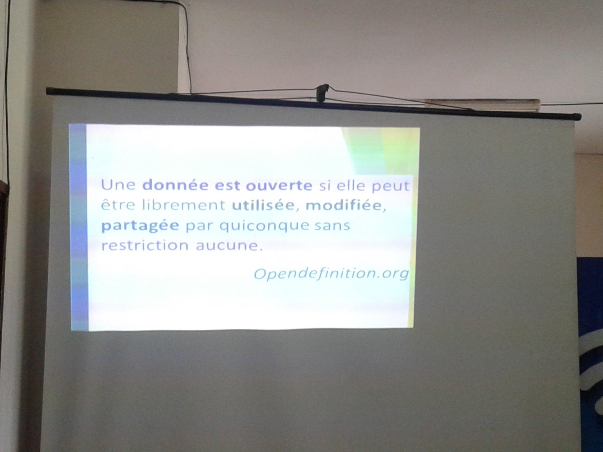 @seigla nous donne ube définition des données ouvertes #OpenData au #OpenDataDay2017 #OpenDataDay  @blolab_cotonou https://t.co/5mODttbW0x