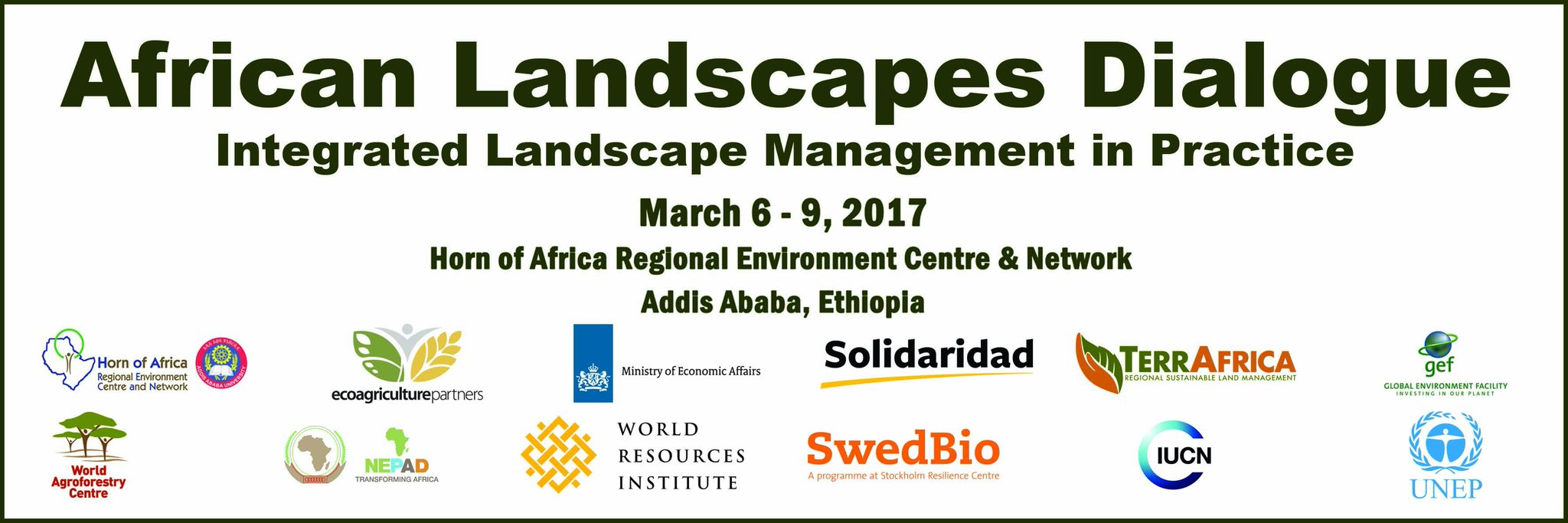 The African Landscapes Dialogue will kick off on Monday, 6th March 2017, at HoA-REN's HQs #LandscapesDialogue https://t.co/yMzRAWibQW