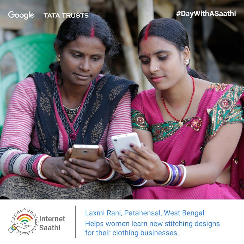 2.6 million women across the country have benefitted from #InternetSaathi. #DayWithASaathi https://t.co/ghMX0ekrZB