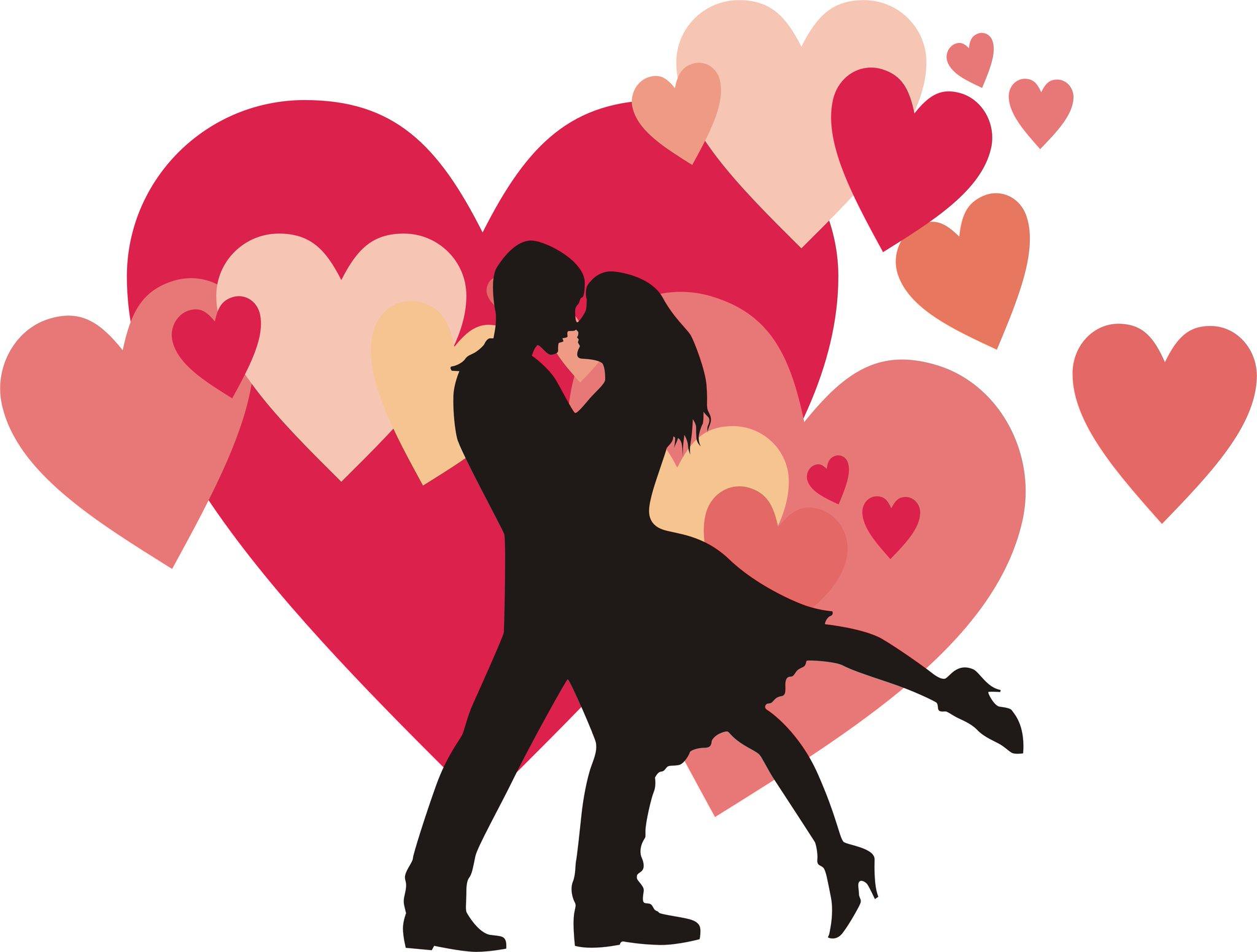 Прикольные картинки о любви и сердечки и поцелуи