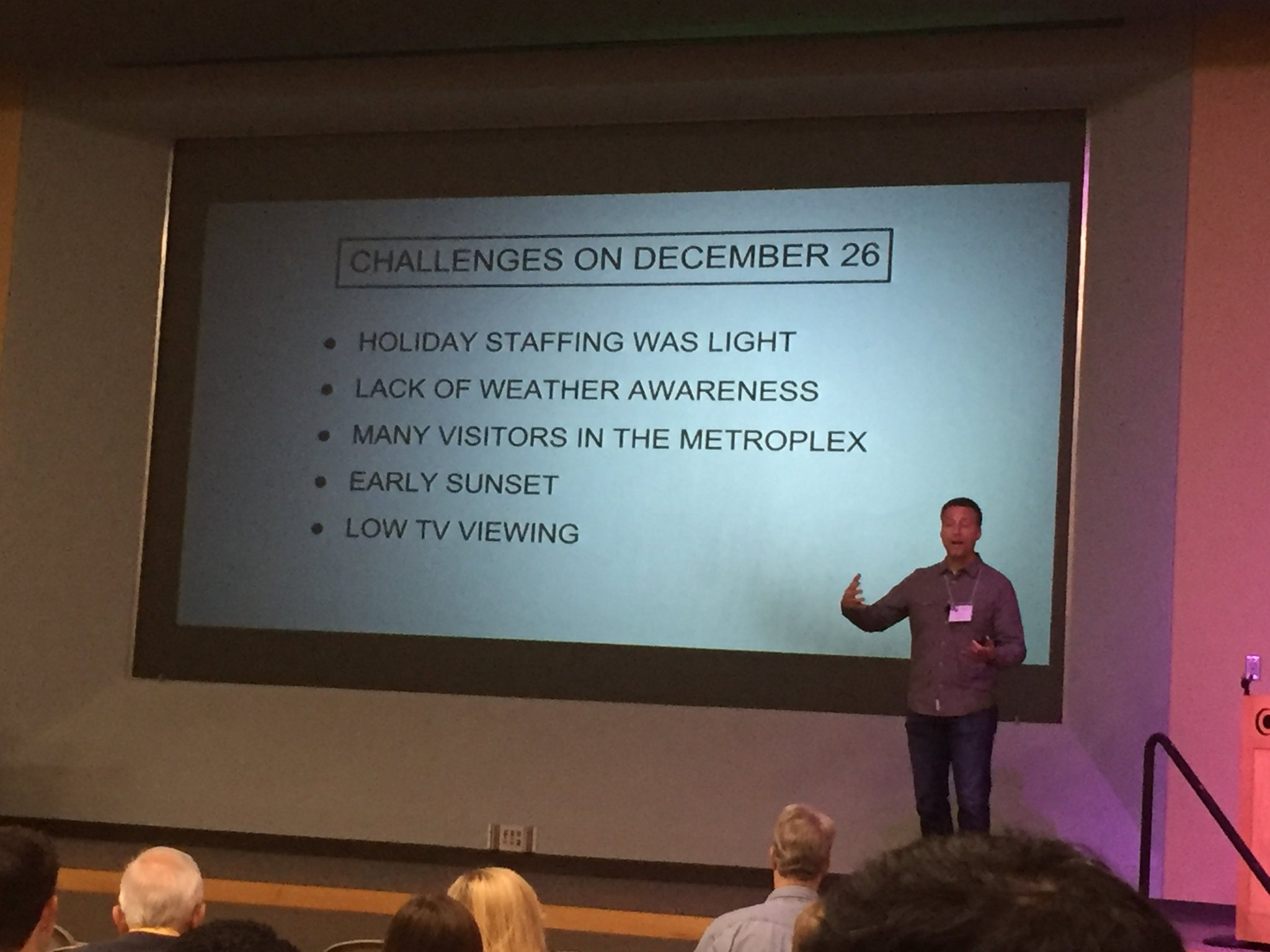 …Day after Christmas presented interesting challenges in Severe weather messaging via @RickMitchellWX #TXWX2017 https://t.co/0mJJim0Oll