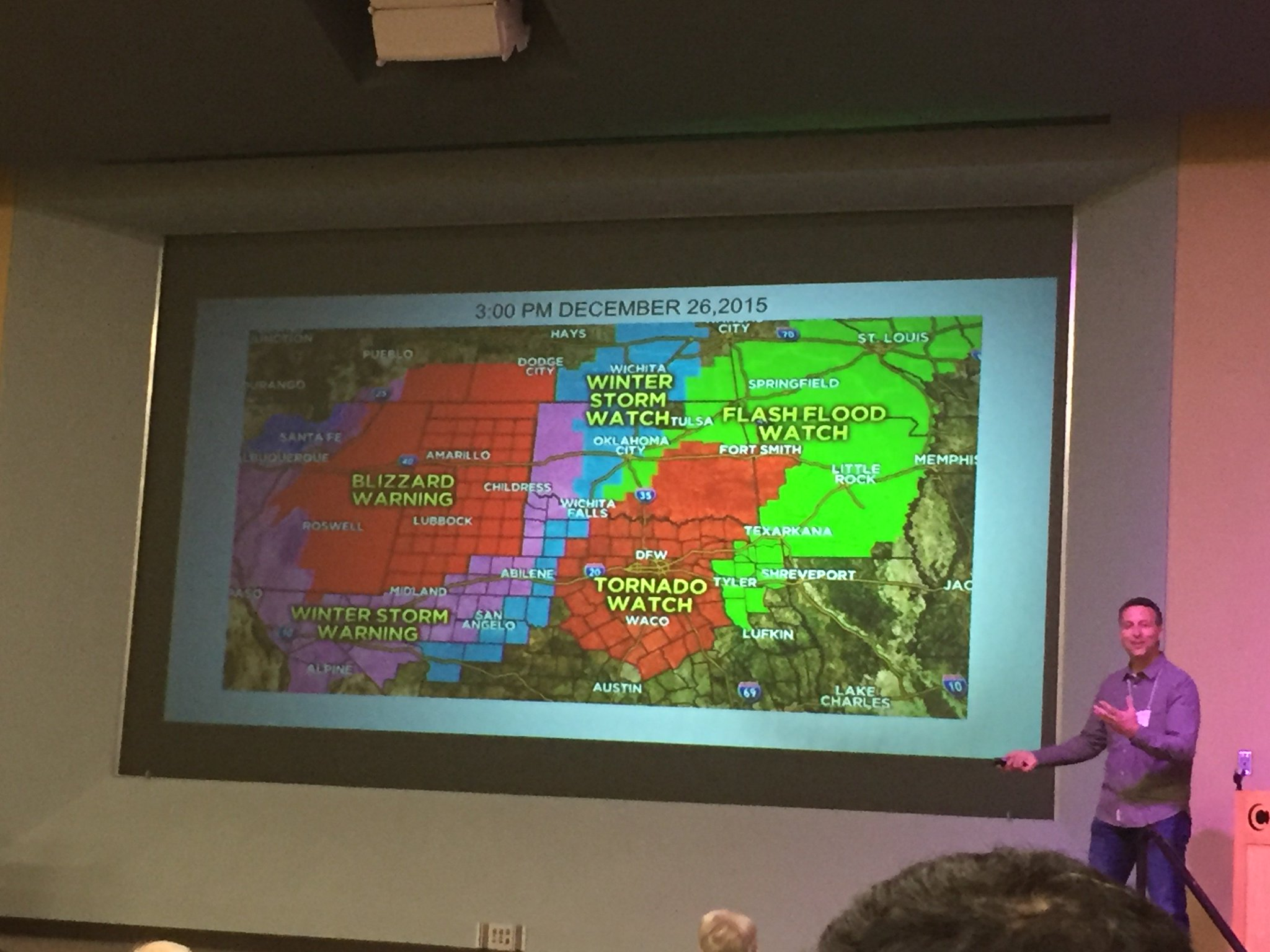 …storm systems present other messaging challenges like multiple threats across a geographic area…flooding, winter wx, tornadoes. #TXWX2017 https://t.co/24MyCFvpgD
