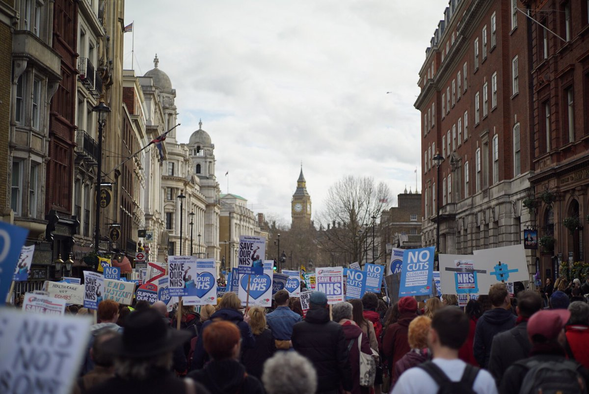Save our NHs Protesters march onto Parliament.