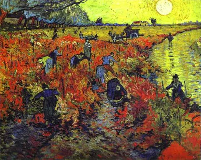 #ArtSaturday Anna Boch 1890 She purchased only piece of art Van Gogh sold in his lifetime: Red Vineyard at Arles https://t.co/Bk70ujZHPz