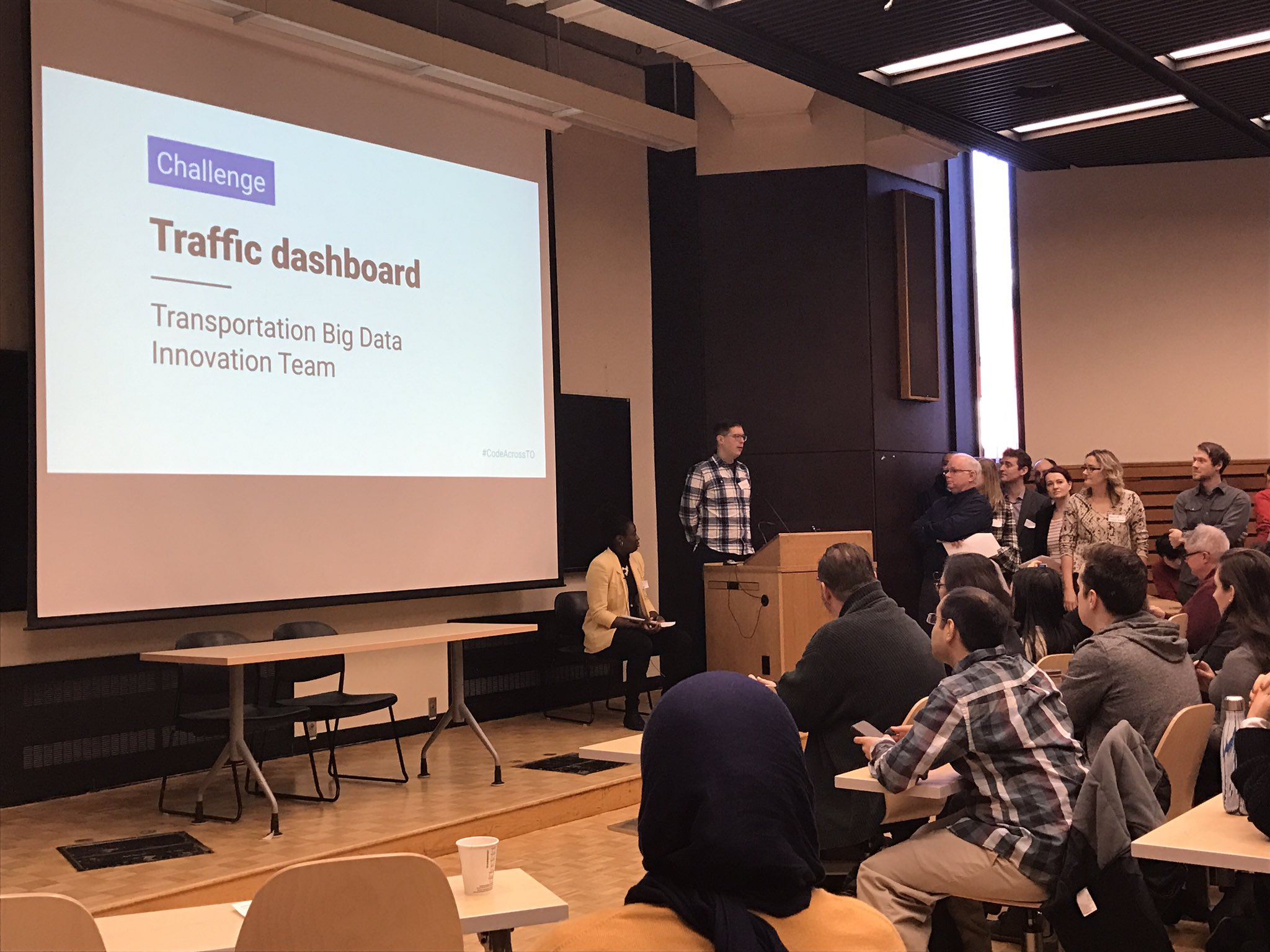 Jesse Coleman pitching the City's Transportation Big Data Team challenge #CodeAcrossTO https://t.co/NAQMC3feCL