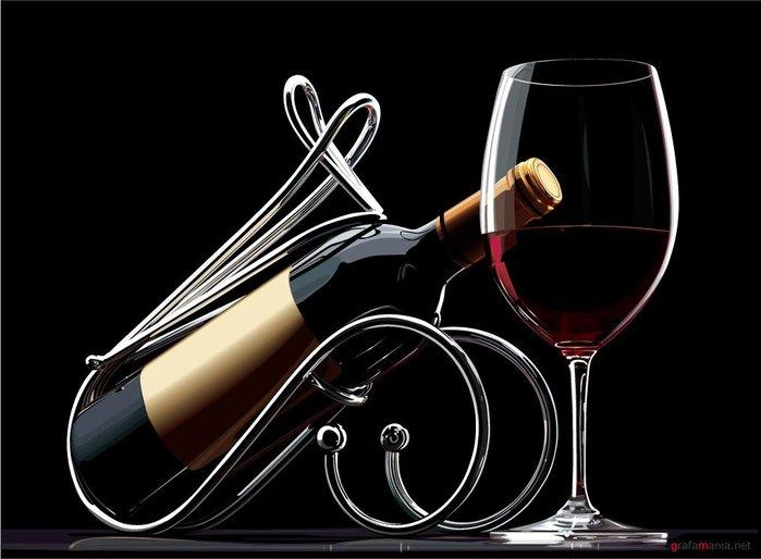 Марта красивой, красивая открытка с бокалом вина