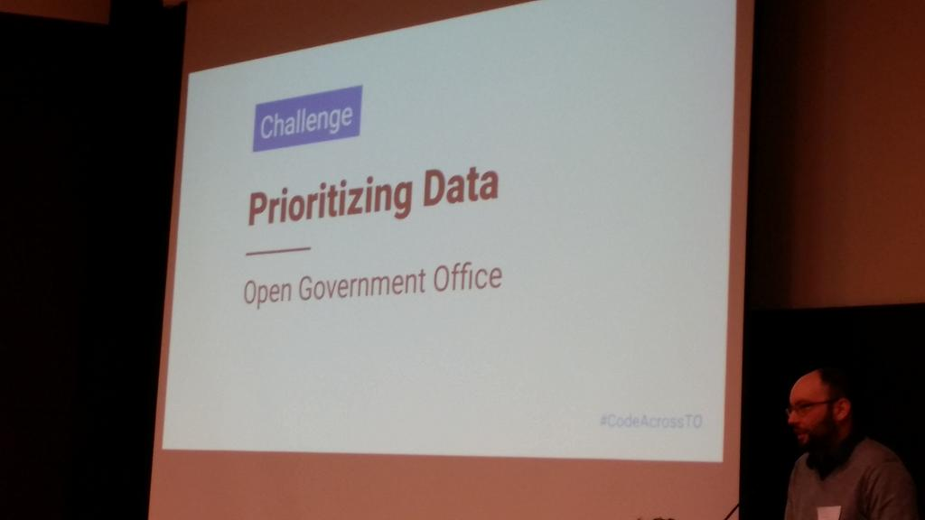 Data about data one of the challenges at #civictechto  #CodeAcrossTO https://t.co/r6G7fdxR3k