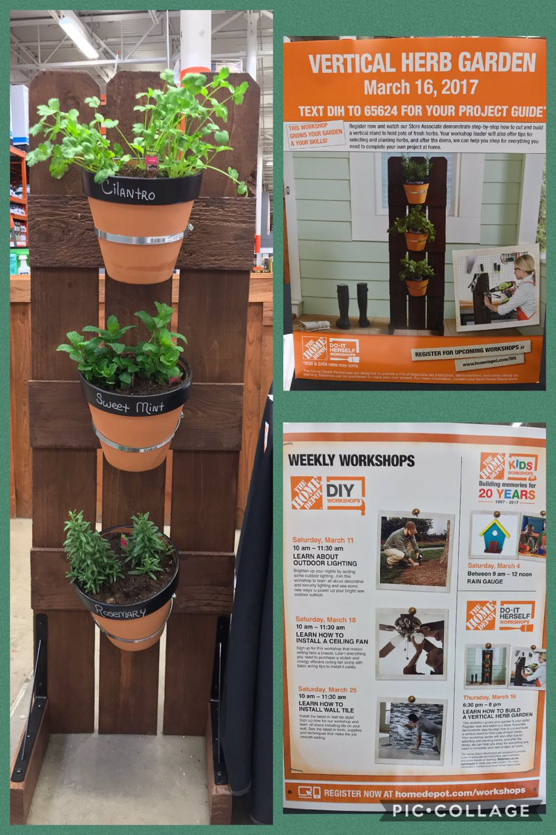 Home Depot Amarillo On Twitter Join Us For Our Weekly Works Free Every Week Build A Vertical Herb Garden Thursday 3 16 During