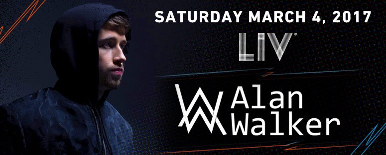 .@IAmAlanWalker debut #onlyatLIV TONIGHT! Limited tix avail at  .