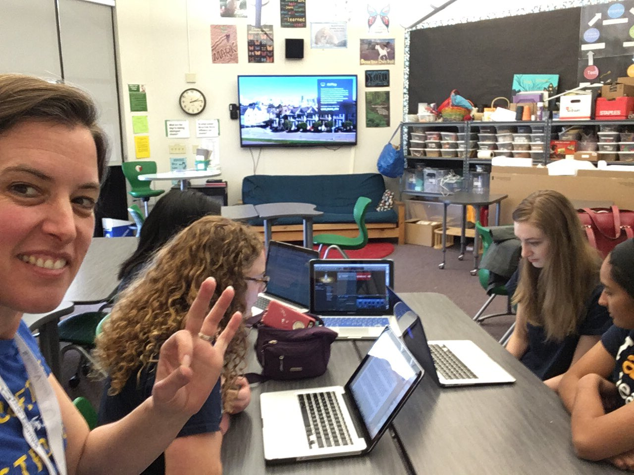 The Tiger Tech Team recording the next episode of Towards the Sun podcast on location at #svcue https://t.co/vDuKQcAKK4