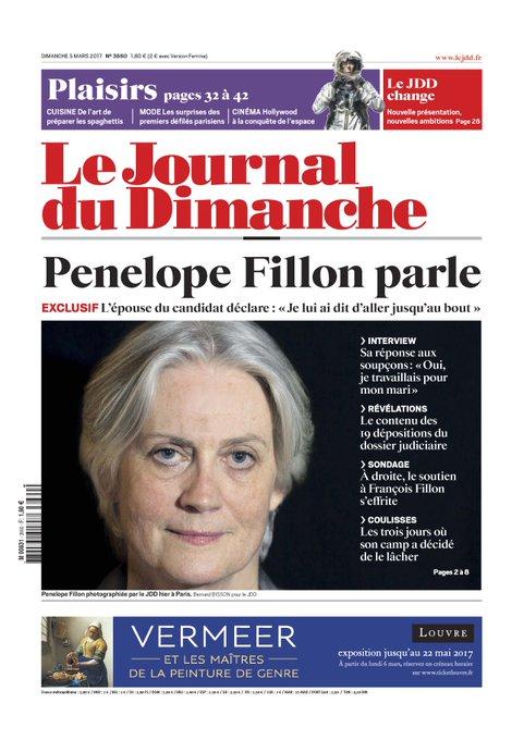 EXCLUSIF - Penelope Fillon parle au JDD : 'J'ai demandé [à François] d'aller jusqu'au bout'. https://t.co/4TEFXeHQzp