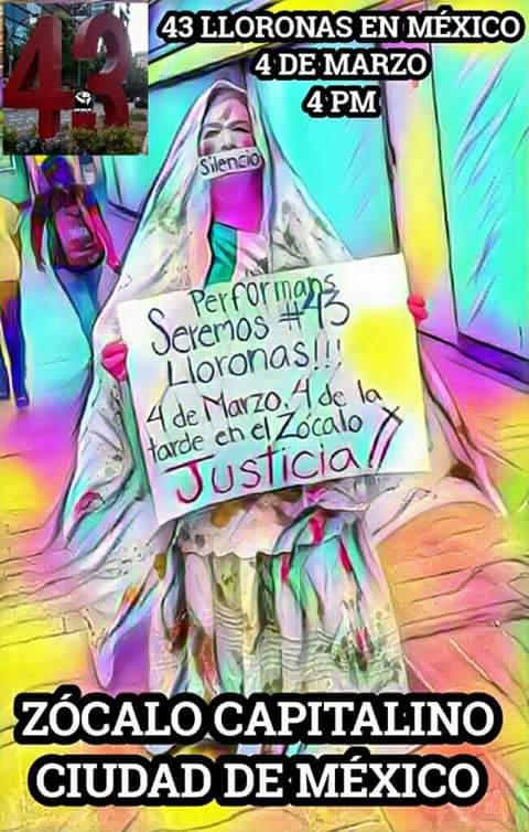 PERFORMANCE Encabezado por @julyklug con la participación de  @RENE_PAREDES  #AyotziViveLaLuchaSigue  Participa, SABADO 4 DE MARZO 4:00 pm <br>http://pic.twitter.com/gPFugn6K8u