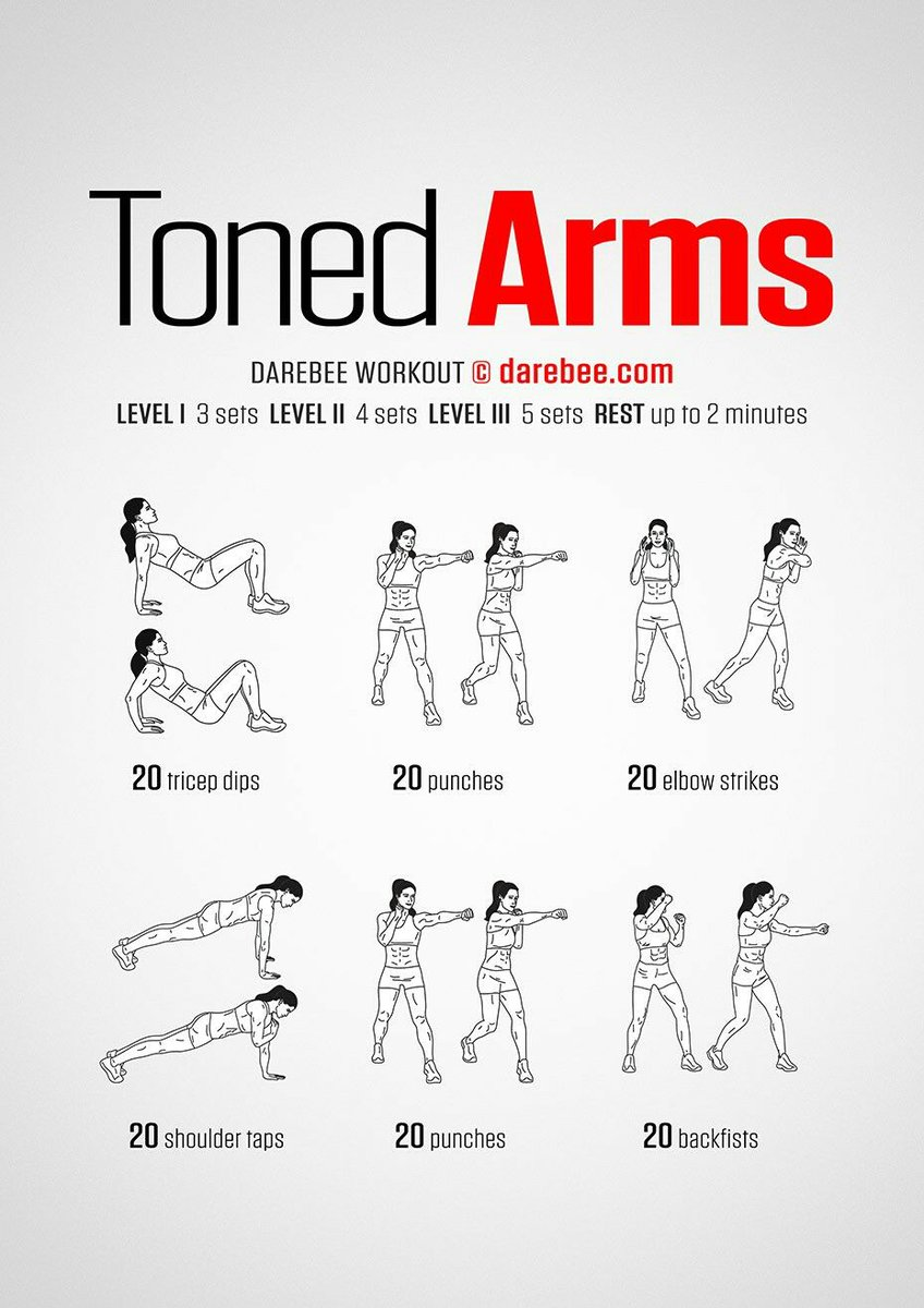 DAREBEE On Twitter NEW Toned Arms Workout Httpstco
