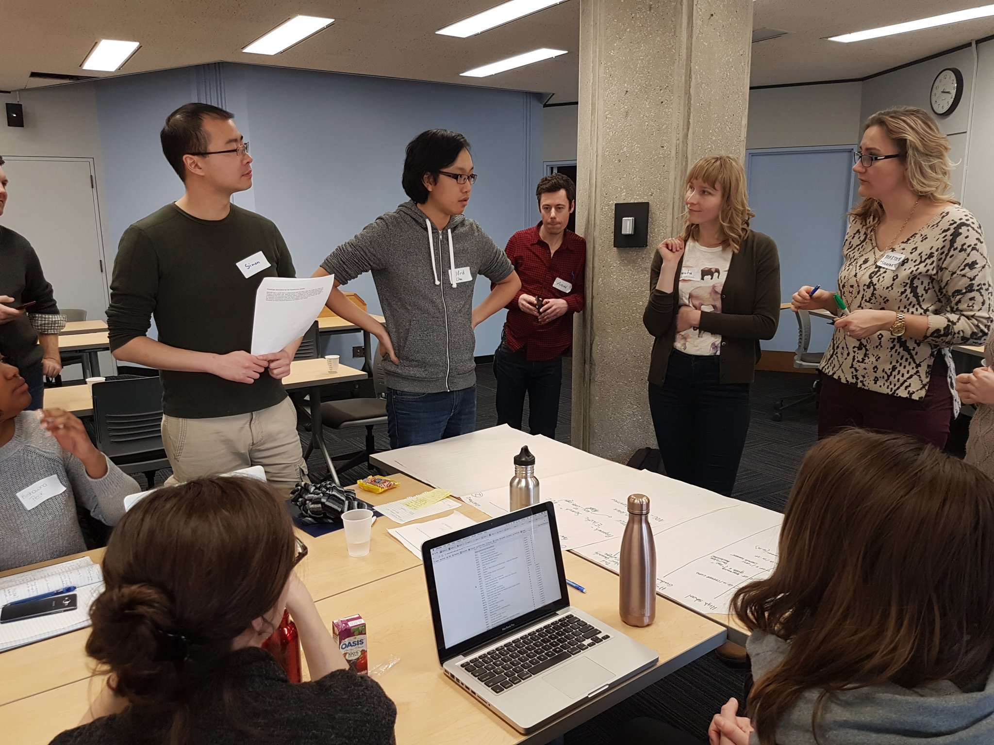 """""""We're through the questions, and now on to the user journey"""" lots of progress for the Student Pathways team! #CodeAcrossTO https://t.co/UQQU38v6hm"""
