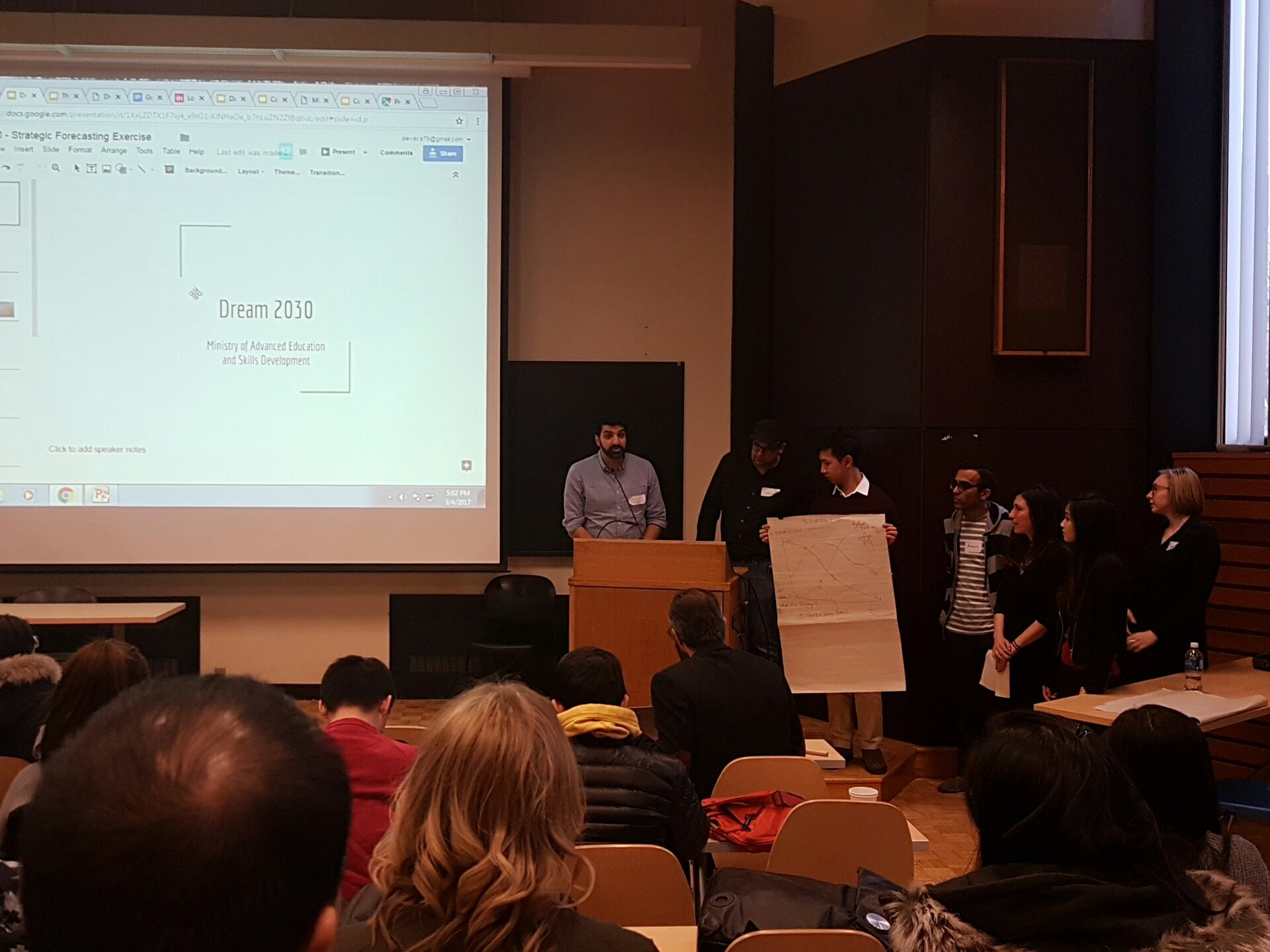 Pitched at #CodeAcrossTO: Envisioning a transformation of the post-secondary education system. #dream2030 #onpoli https://t.co/JapzH91keT