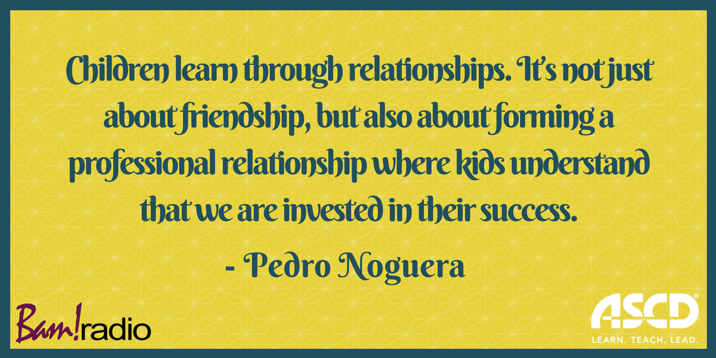 Children learn when you develop good relationships with them. @PedroANoguera shares tips: https://t.co/0UK4esAtQj https://t.co/o2XULoFAma
