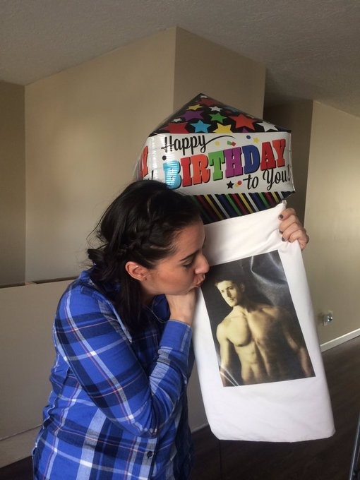 Happy birthday to my mom who got a shirtless jensen ackles pillowcase