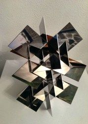 """On Balice Art: """"Structure Permutationnelle"""" by Francisco Sobrino - polished steel, 10.25 x 6.5 in. #FranciscoSobrino  http:// buff.ly/2m5Gu7w    <br>http://pic.twitter.com/U4vleIIi5W"""