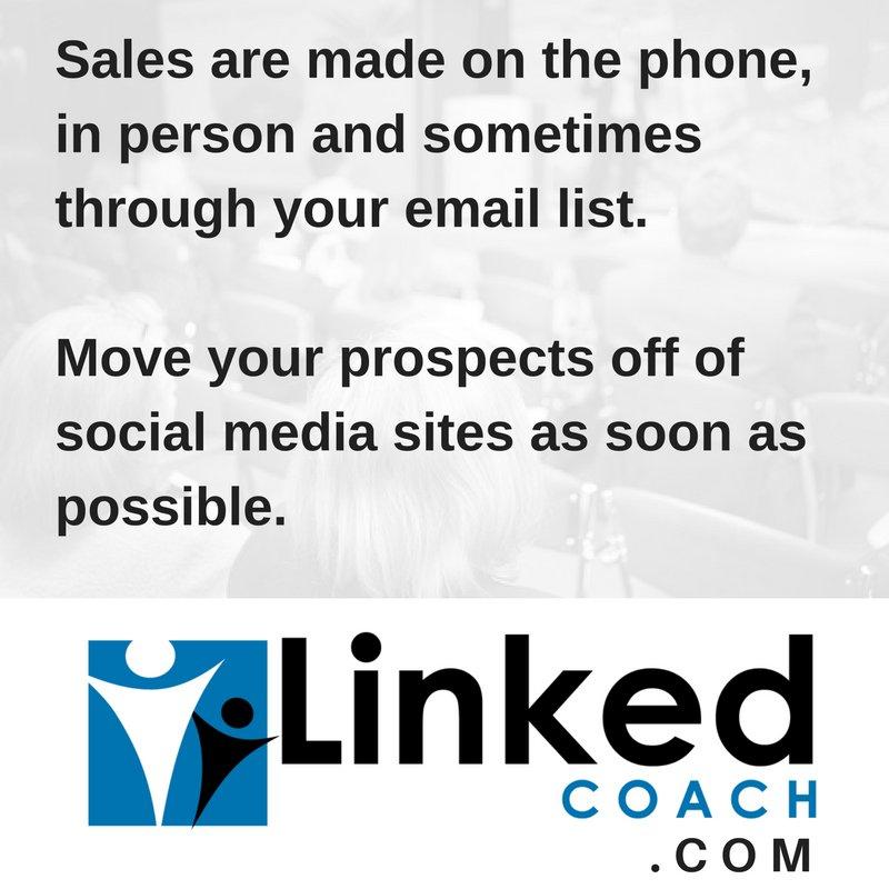 Move our prospects off of social media https://t.co/pljZ6An4eN #linkedin #socialselling https://t.co/DUDiM55FdN