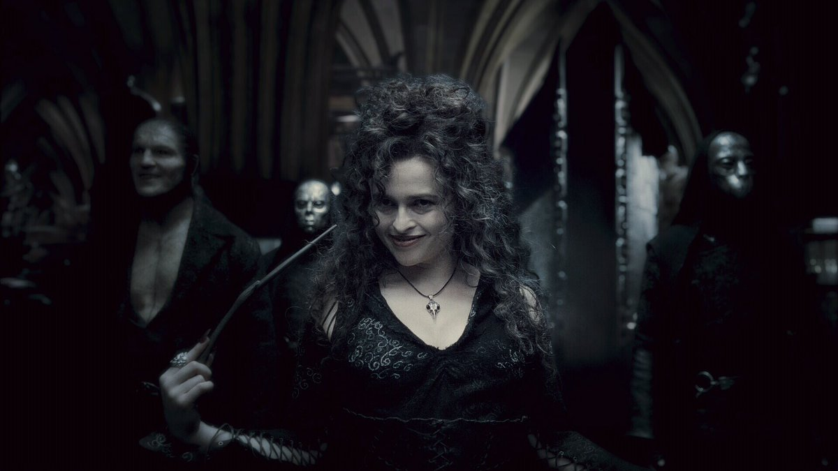 Bellatrix and the Death Eaters! 😱 #HalfBloodPrince #HarryPotterWeekend