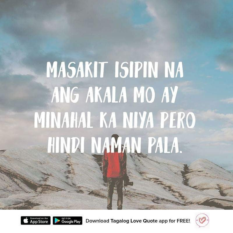 "Happy Quotes Tagalog Twitter: Pinoy Tagalog Love Quotes On Twitter: ""Masakit Isipin Na"