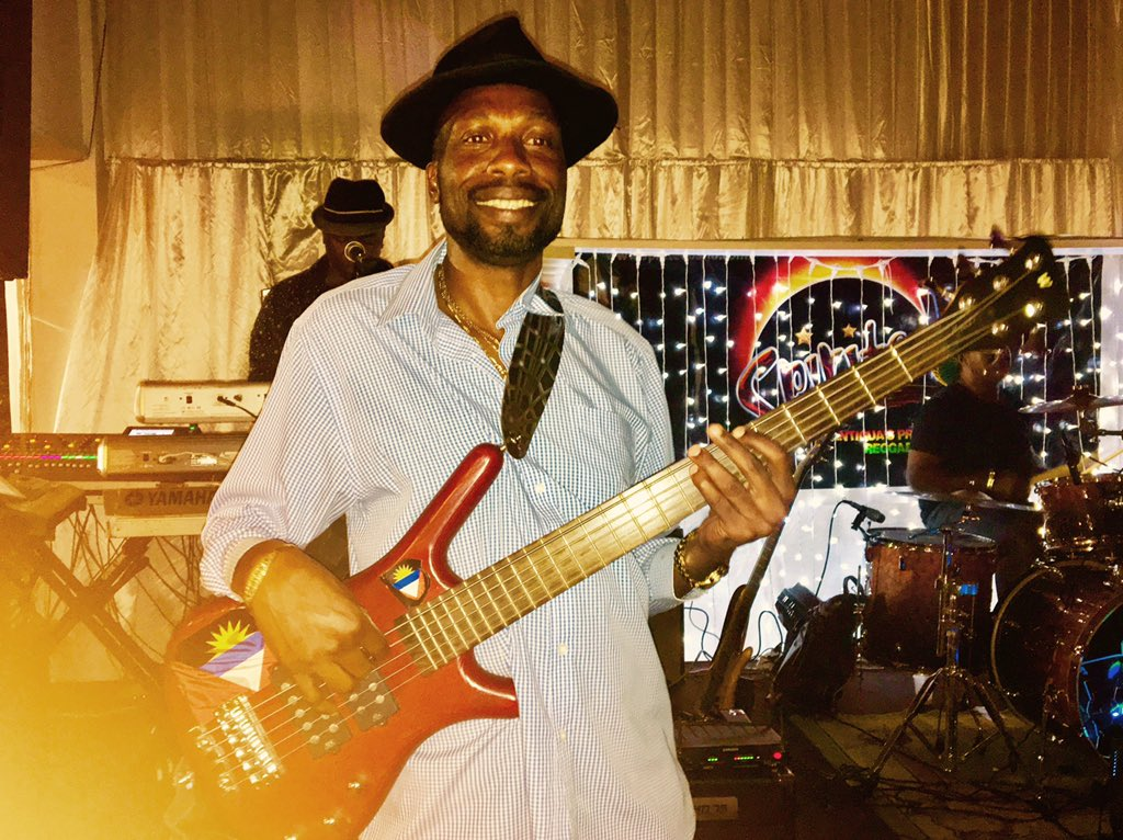 "Windies Cricket on Twitter: ""The great Sir Curtly Ambrose on bass ..."