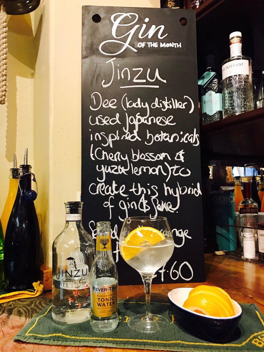 March is here, and so is our new pick of the month.  'Jinzu' gin created with Japanese inspired botanicals  #ginofthemoment #worsleyoldhall https://t.co/6HWWw9pGD3