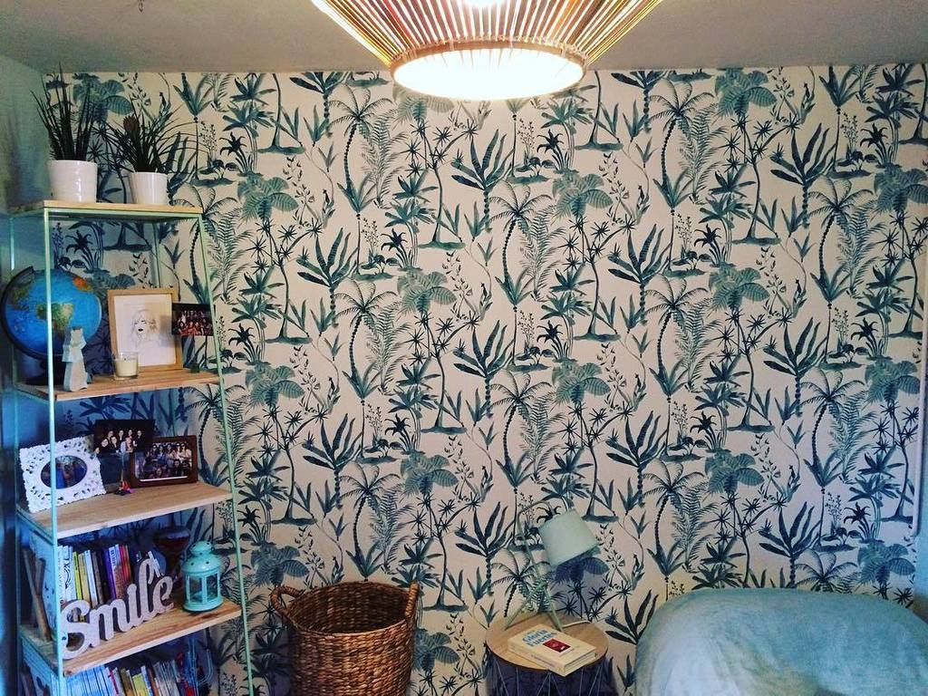 NEW ROOM. • #deco #new #newroom #decoracion #papelpintado #verde #hawaiian #tropical #ikea…  http:// ift.tt/2lNxilz  &nbsp;   <br>http://pic.twitter.com/M22BGhyYst