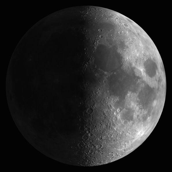 La luna ha alcanzado la fase cuarto creciente a las 11 35 for Hoy es cuarto creciente