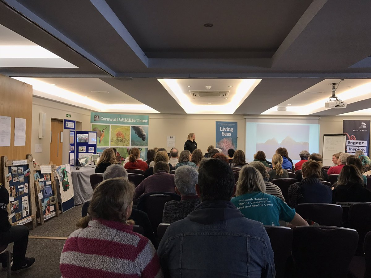 with the lovely @nataliefee watching Nat Gibb introduce the day at the @CornwallNature #yourshore conference @BedruthanHotel #cleanerseas