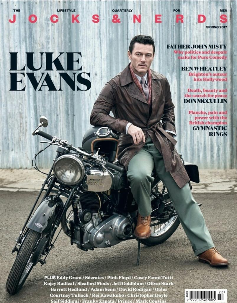 Luke Evans for Jocks & Nerds - Spring 2017 #lukeevans https://t.co...