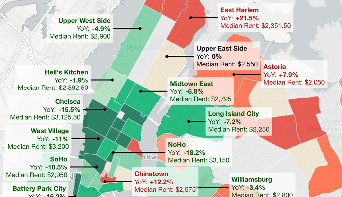 Noho Nyc Map.Time Out New York On Twitter See A Map Of The Average Rent Prices