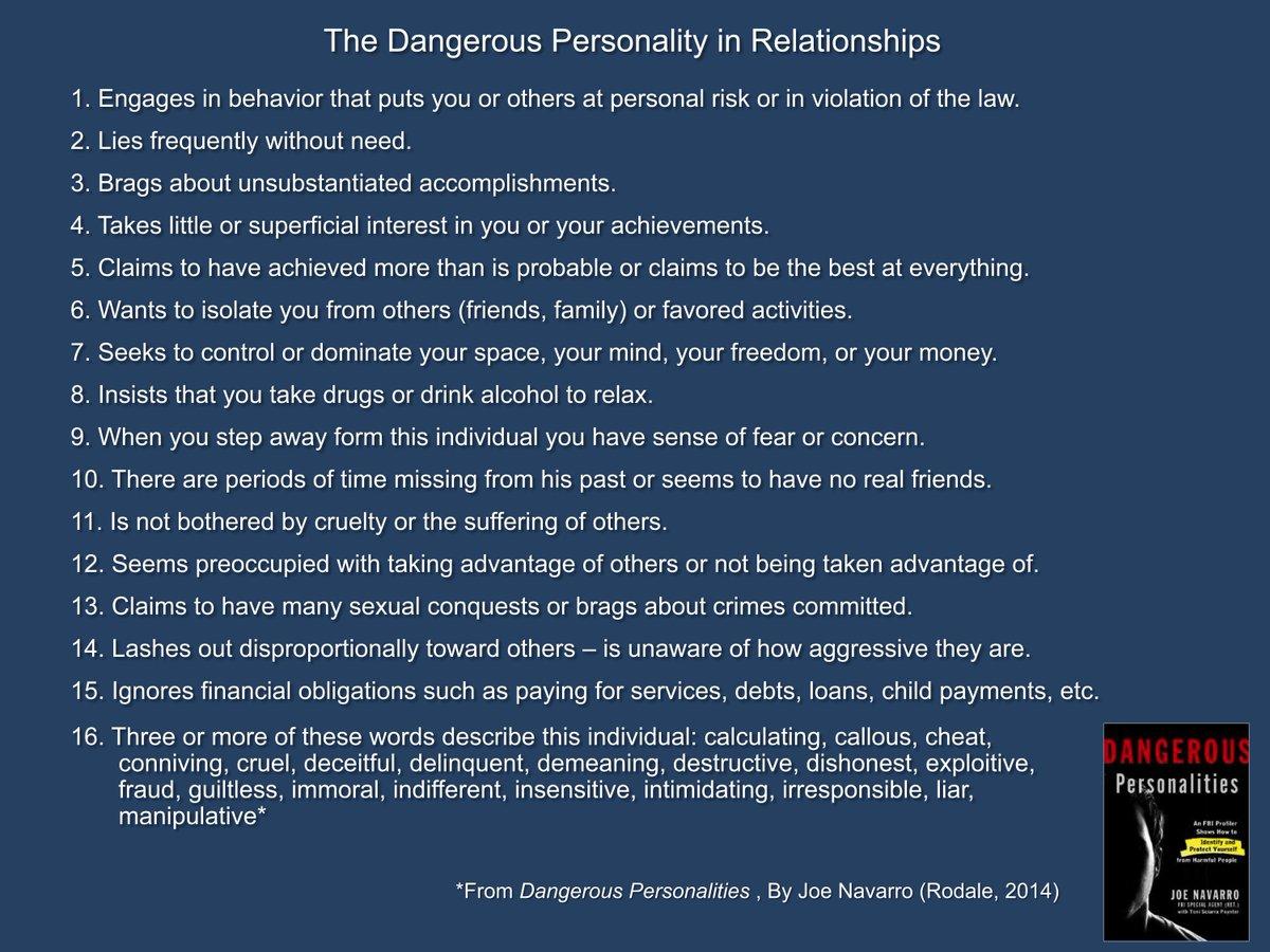 Describe intimidating personality