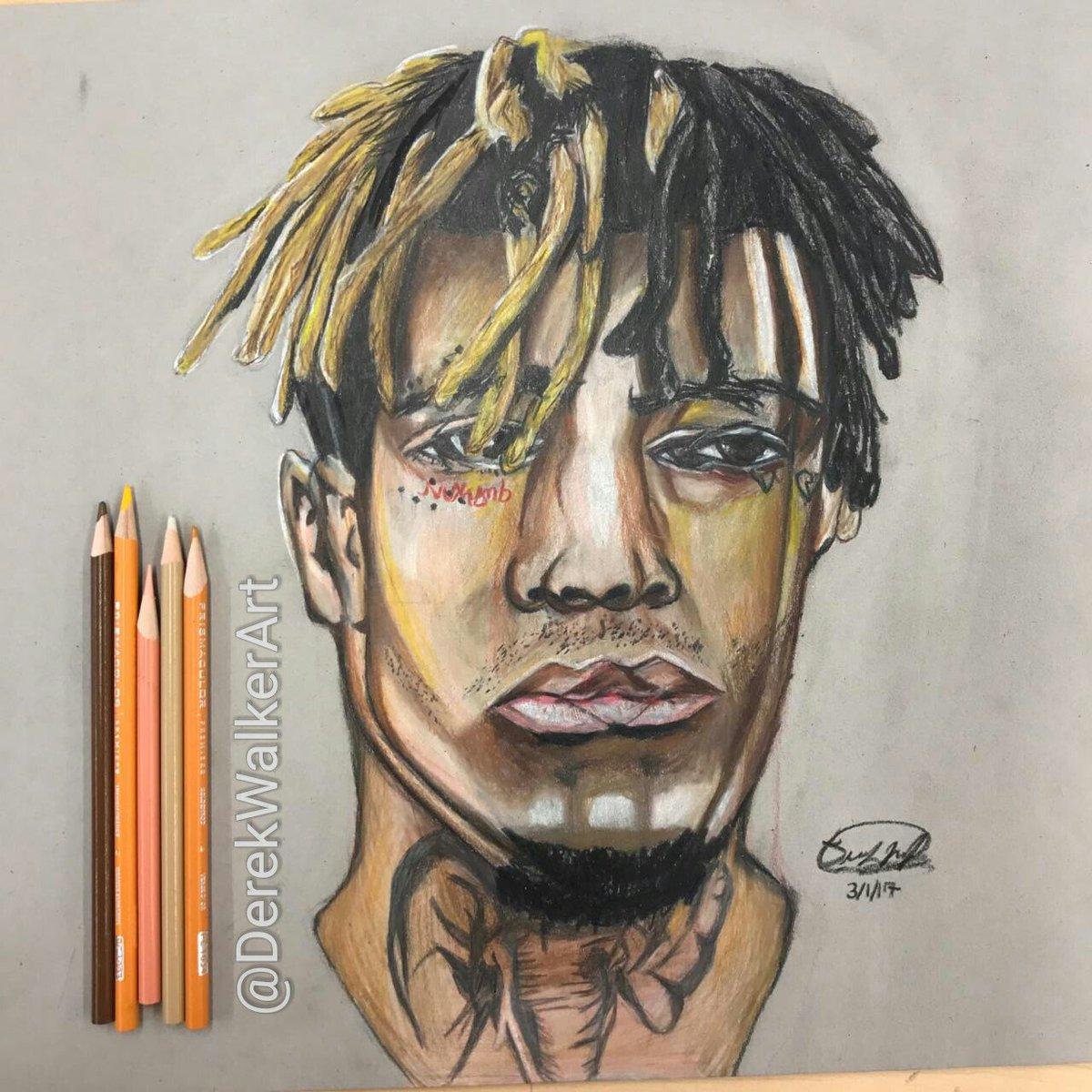 """Drawing Xxxtentacion: Derek Walker Art On Twitter: """"My Finished Colored Pencil"""