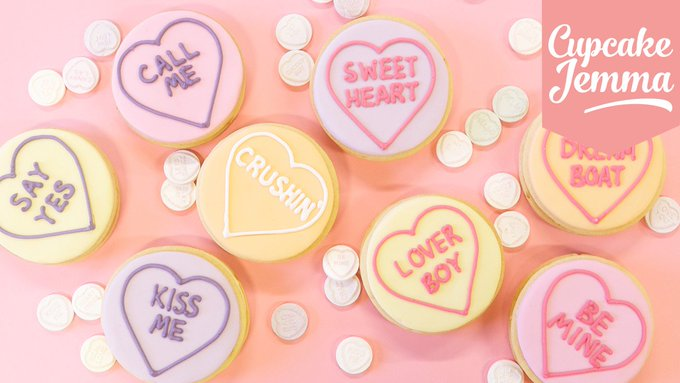 Lemon Ganache Love Heart Valentine's Cookies