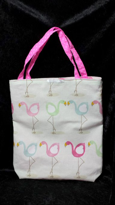 Flamingo Cotton Shopping Tote Bag