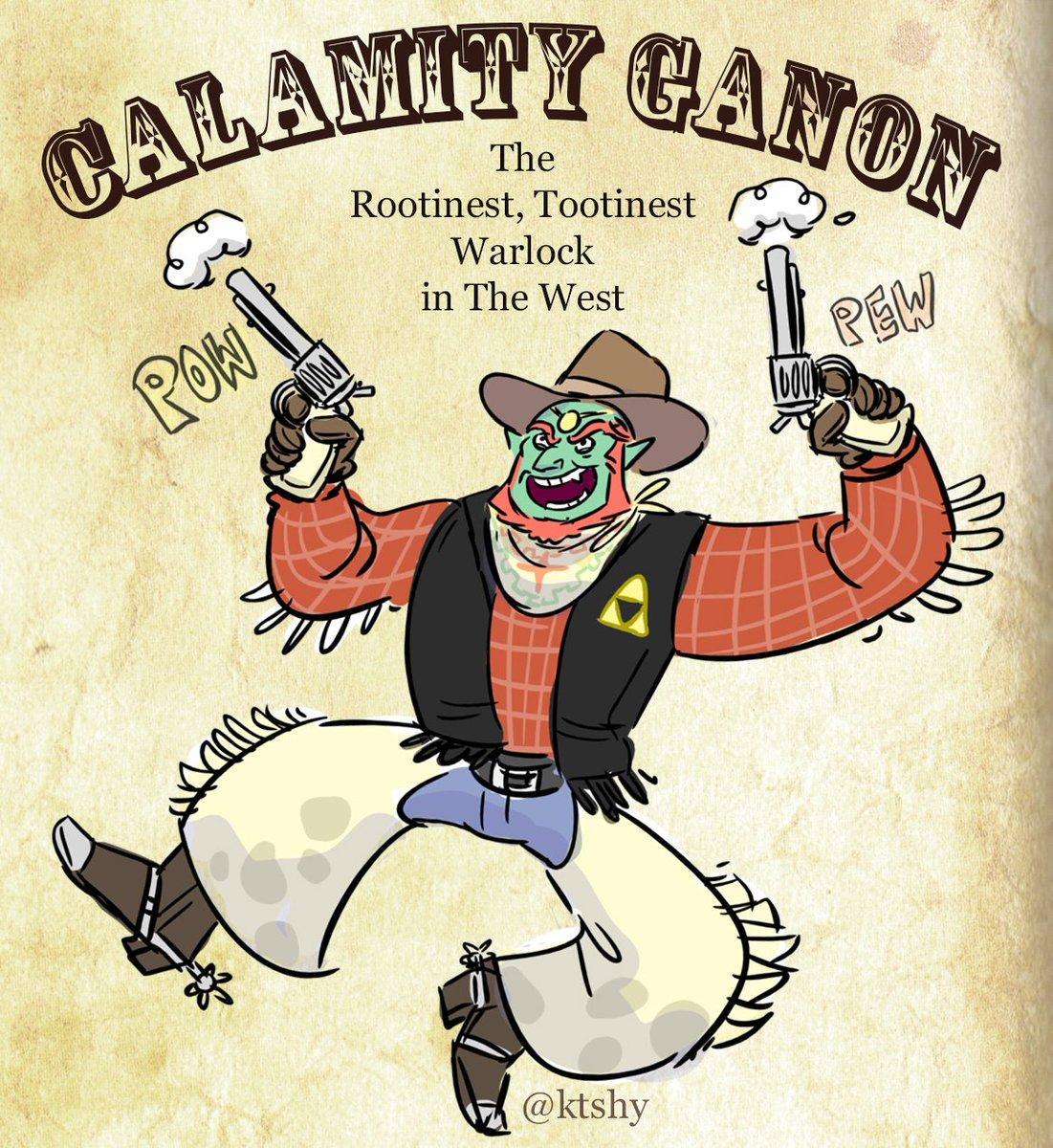 "Every time someone says ""Calamity Ganon"" in #ZeldaBreathoftheWild , @shaggyshan and I yell ""YEE HOOOO! Pew pew pew"" https://t.co/krp06Wwxjh"