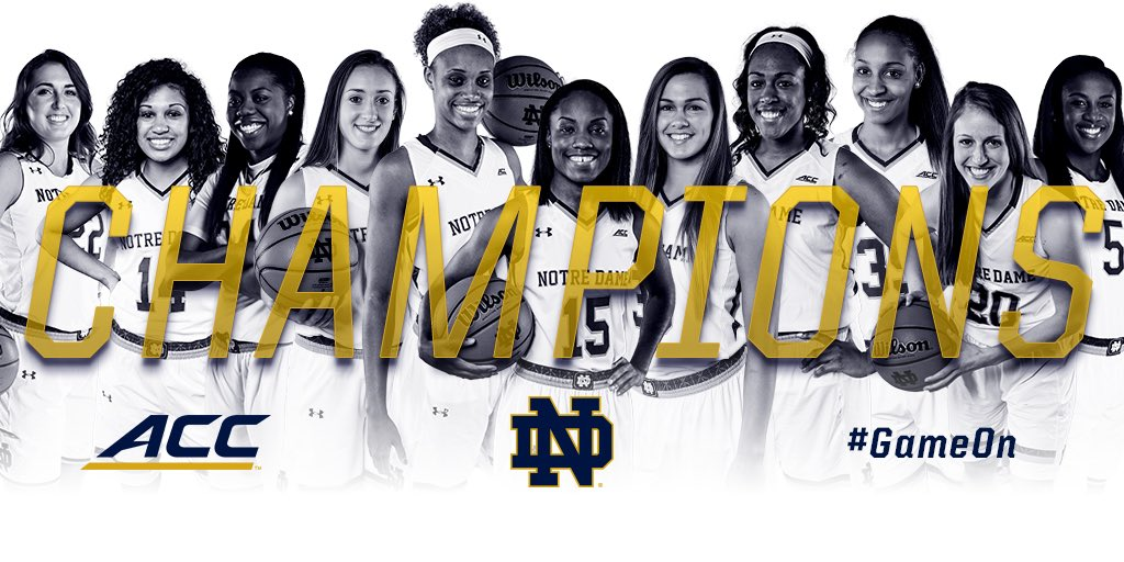 CHAMPS.  4 years in the ACC. 4 ACC Titles.  #GameOn https://t.co/eNe76h5ERk